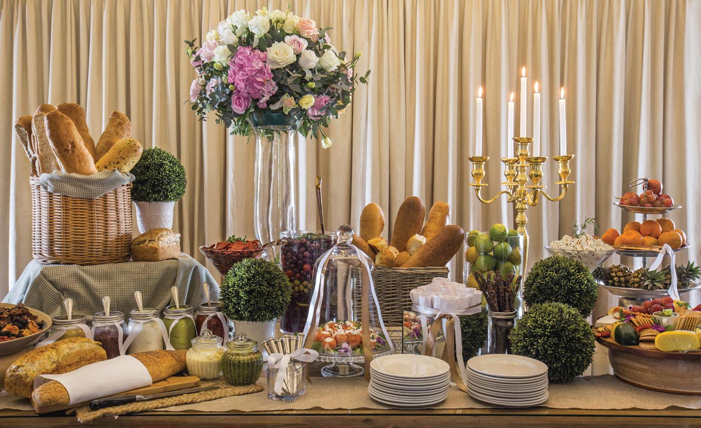 table at the Johannesburg wedding venue